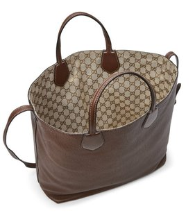 Gucci Tote in Brown REVERSIBLE GG