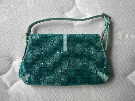 Gucci Coach Louis Vuitton Dooney Bourke Channel Rare Turquoise Blue Clutch
