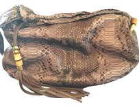 Gucci Vintage Python Bamboo Leather Hobo Bag