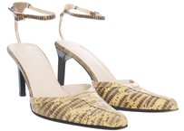 Gucci Snakeskin Heels Tan Leather Beige Pumps