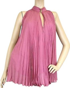 Gucci Womens Silk Pleated Halter Top Pink