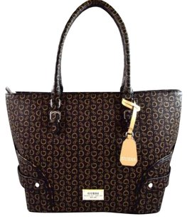 Guess Greetings Tote in Brown