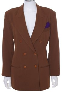 Guess By Marciano Jacket Coat Double Breasted Brown Chocolate Blazer