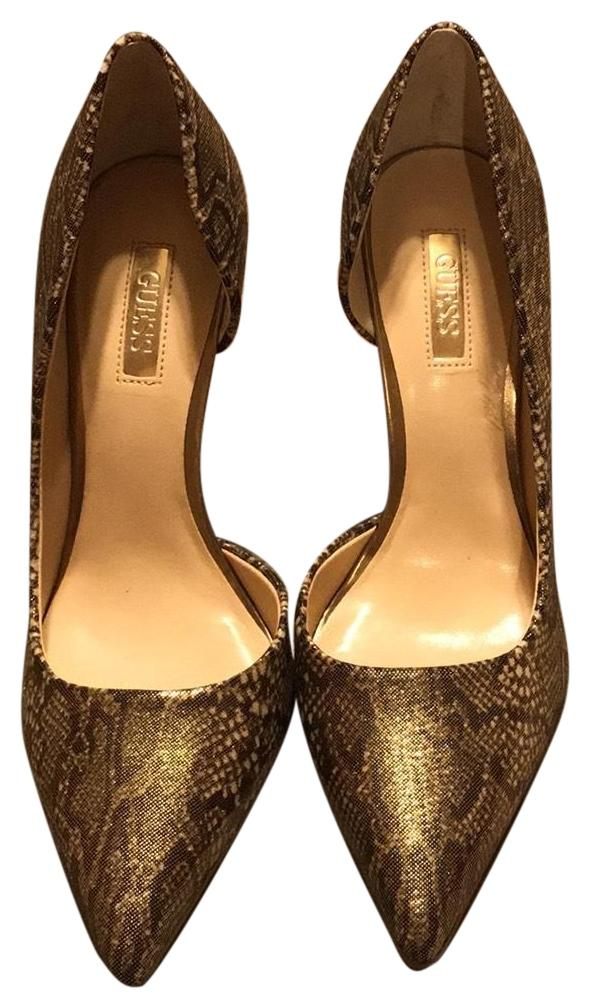 1fd44ee8595 Guess Gold Brown Brown Brown Gwbittan2 Pumps Size US 7 Regular (M