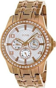Guess Guess Rose Gold-tone Polished Glamour Ladies Watch U0147l3