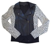 Guess Motorcycle Spring Sweater Faux Leather Motorcycle Jacket