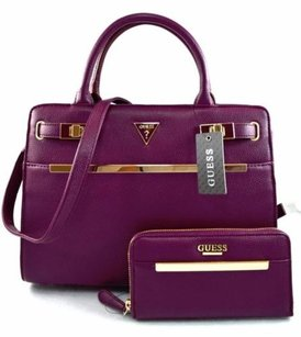 Guess Taylor Satchel in Purple