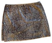 Guess Sequins Night Out Date Night Skirt Gray