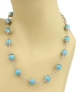 GURHAN Gurhan Gatsby Turquoise Sterling Silver Fancy Bead Necklace