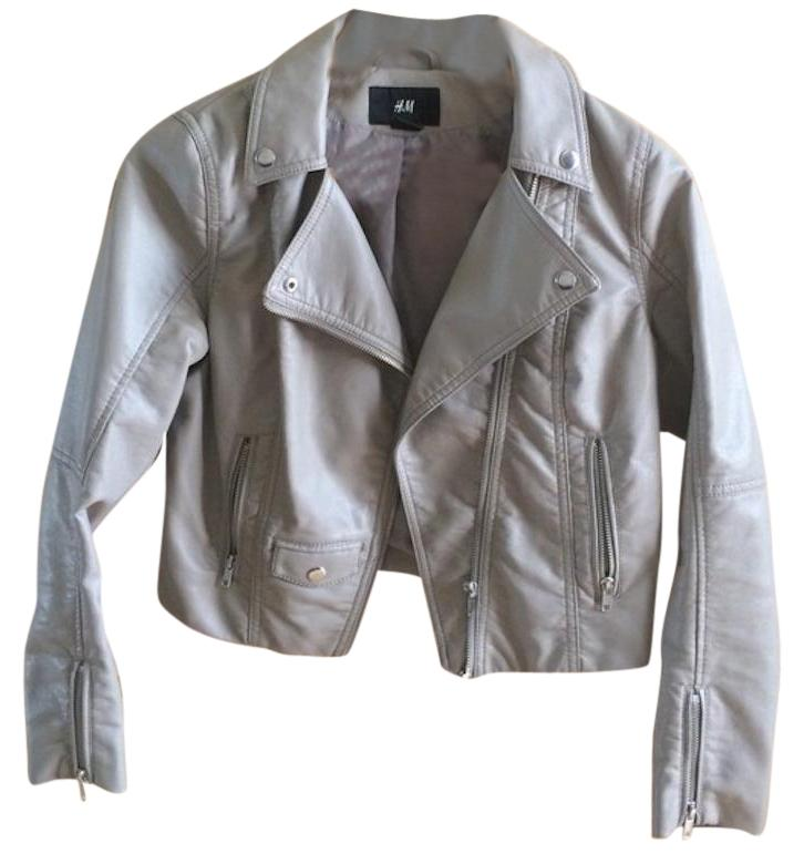H and m faux leather jacket