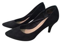 H&M Pointed Toe Hidden Platform BLACK FAUX SUEDE Pumps