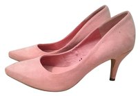 H&M Pointed Toe Leather Hidden Platform PINK BLUSH FAUX SUEDE Pumps