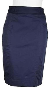 H&M Straight Pencil Skirt Navy Blue