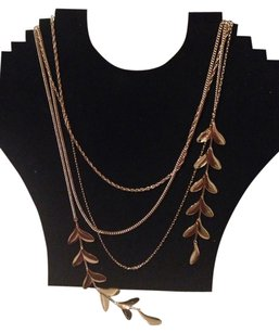 H&M Waterfall Necklace Gold Tone