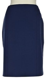 Halogen Womens Pencil Below Knee Solid Wtw Polyester Skirt Blue