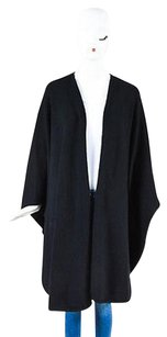 Halston Halston Black Cashmere Oversized Draped Shawl