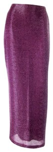 Halston Silk Beaded Event Cocktail Gala Full Length Chic Skirt Purple