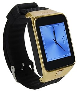 HAMSWAN® HAMSWAN(R) Smart Bluetooth Watch 1.54-inch MTK6260 Sync Anti-lost for iPhone Mobile Phone Smartphone (Gold)