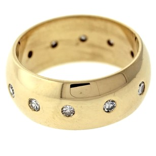Other Vintage 14k Yellow Gold .50ctw Wide Diamond Wedding Band Ring Size 6