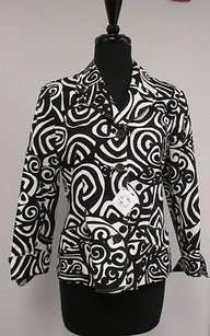 Harv Benard Harve Cotton Blend Black & White Jacket