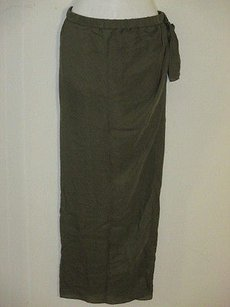 Haute Hippie Silk Mini Sheer Maxi Skirt military