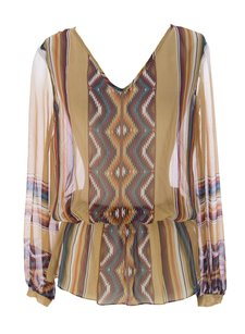 Haute Hippie Womens Hautehippie_top_hhr125040_nudemulti_s Top