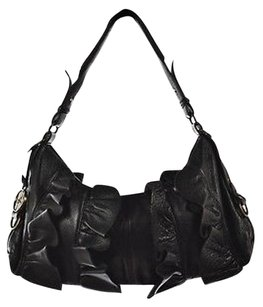 Hayden-Harnett Womens Textured Leather Handbag Shoulder Bag