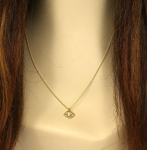 Hearts on Fire Hearts On Fire 18k Yellow Gold Diamond Sqaure Pendant-18