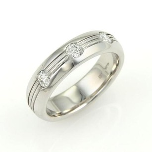 Hearts on Fire Hearts On Fire Mens Duets Burnished Diamond 18k White Gold Band Ring-size