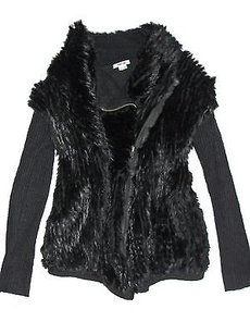Helmut Lang Fur Wool Black Jacket