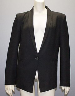 Helmut Lang Helmut Lang Black Wool Long Sleeve One Button Front Blazer Hs202