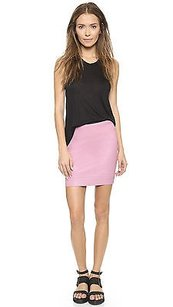 Helmut Lang Stretch Plonge Leather Mini Rind 0 Mini Skirt Pink