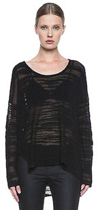 Helmut Lang Open Knit Angora Distressed Destroyed Boucle Pxs02 Sweater