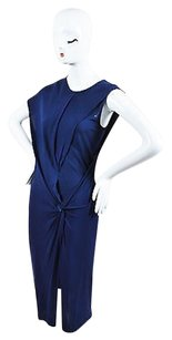 Helmut Lang Navy Crepe Dress