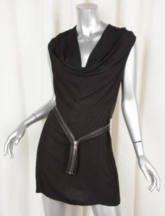 Helmut Lang short dress Black Womens Cowl on Tradesy