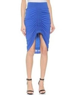 Helmut Lang Viscose Film Skirt Blue