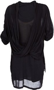 Helmut Lang Lush Voile Sheer Top Black