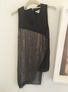 Helmut Lang Sequin Top Black and Gold