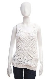 Helmut Lang Cable Knit Top White