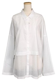 Helmut Lang Women's Clothing Patterned Top White