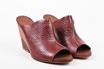 Henry Beguelin Burgundy Red Mules