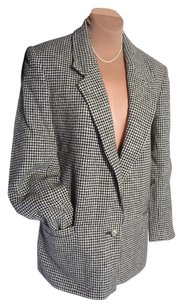HENRY WHITE Unique Priced To Sell BLACK,WHITE HOUNDSTOOTH, HENRY WHITE Blazer