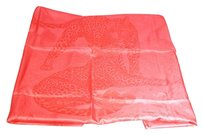 Hermès Auth Hermes Silk Square Shaped Scarf Pink
