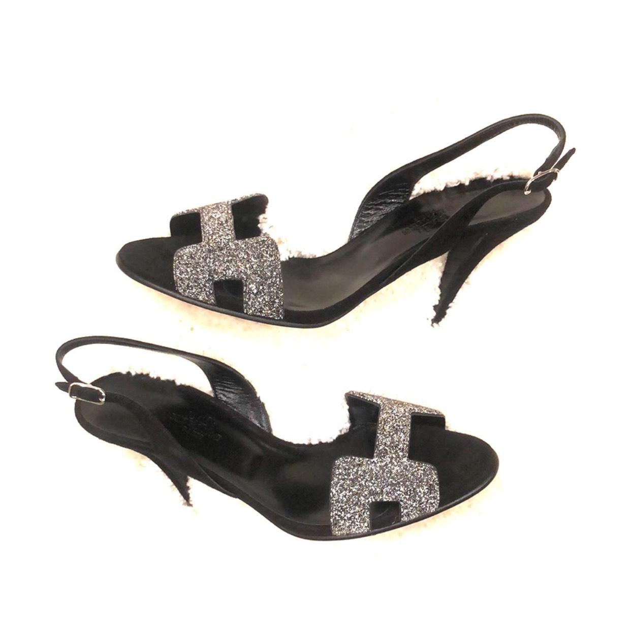Hermès Black Night 90 Sandals Formal Shoes Size EU 36 (Approx. US 6) Regular (M, B)