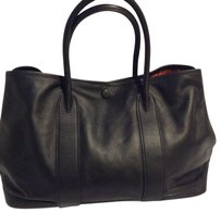 Hermès Garden Party Black Leather Tote