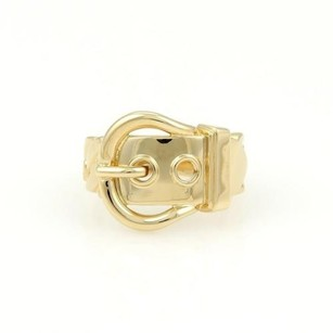 Hermès Hermes 18k Yellow Gold Belt Buckle Design Band Ring