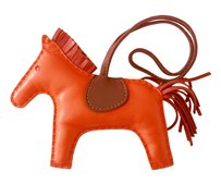Herms HERMES Bag Charm Lambskin Leather Rodeo Horse MM