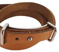Hermès rephotograph Hermes Leather Strap Belt Bracelet Kelly Birkin Cuff Bangle Wrap Tie HERLM35