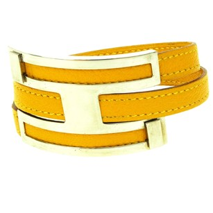 Hermès HERMES Bracelet Bangle Leather