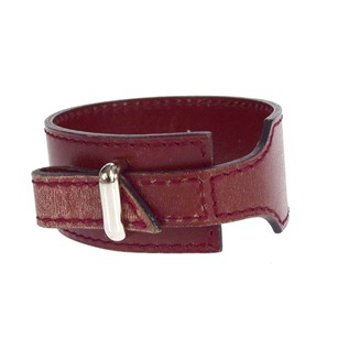 Hermès HERMES Bracelet Bangle Leather Bordeaux